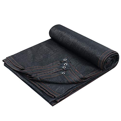 ASKLKD Tissu Ombre crème Solaire Net, 85% Protection UV résistant à l'ombre Mesh Tarp, Auvent, Tente de Jardin Canopy for l'usine de Fleurs, CHENILS Outdoor- (Noir) Shadownet (Size : 5 * 10m)