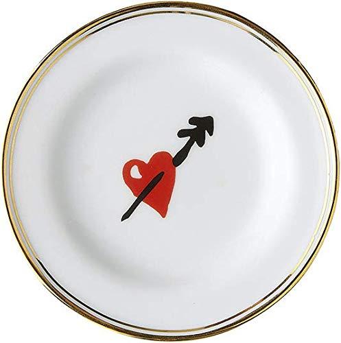BITOSSI Home & Funky Table LA TAVOLA SCOMPOSTA, Piatto Micro Cuore Ø 9,5 CM