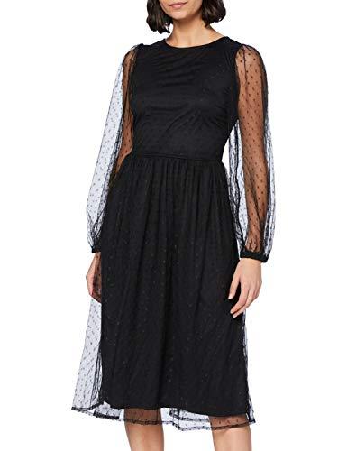 YAS Damen YASLISSO LS MIDI Dress Kleid, Black, L