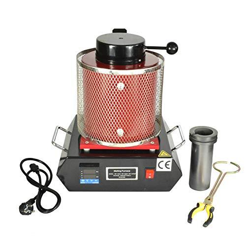 Estufa de fundición Gold HaroldDol eléctrica, 1150 °C, pantalla digital, capacidad de calefacción para horno, 1600 W, para oro, plata, cobre y otros siete metales preciosos.