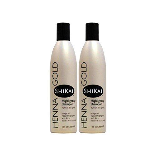 ShiKai Henna Gold Highlighting Shampoo 12 fl oz Liquid (Pack of 2)