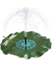 Solar-power Lotus Leaf Fountain Floating Brushless Decoration Pump Kit with Monocrystalline Solar Panel for Bird Bath Garden Pond Energy-saving Environmental-friendly Universal