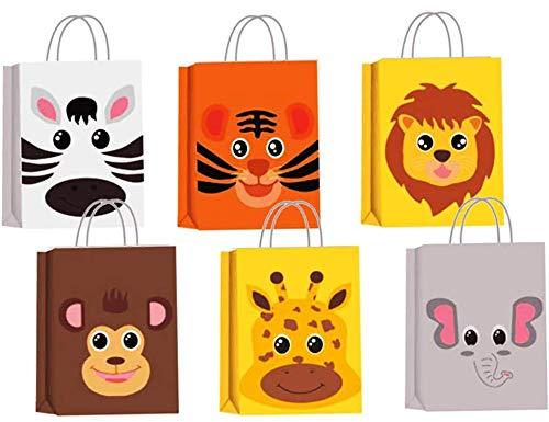 QICI 18 Pezzi Sacchetti Bomboniere Animali Fattoria Animali Giungla Compleanno Barnyard Regalo Sacchetti per Animali da Fattoria