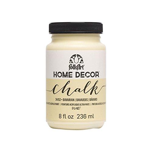 Plaid:Craft Folkart Home Decor - Pintura de tiza (8 oz), color beige
