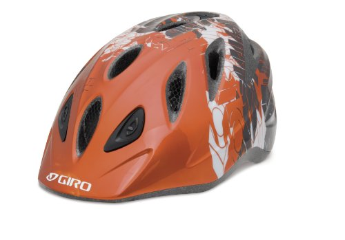 Giro Kinder Fahrradhelm Rascal, orange/charcoal blockade, 200058017