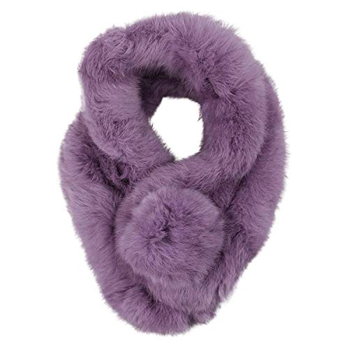 Sciarpa Donna Vintage Ecopelliccia Scaldacollo Addensare Fazzoletti da Collo Morbidi Caldo Scarf Sciarpa Invernale Abbigliamento