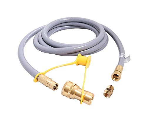 KIBOW 12Ft 1/2 Inch ID Low Pressure Natural Gas and Propane Gas Hose Assembly-CSA Certified
