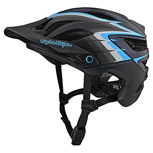 Troy Lee Designs Born from Paint Adult   Trail   XC   Mountain Bike A3 Sideways Helmet (Black, XS/SM)