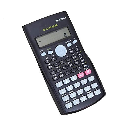 Calculadora De mano de múltiples funciones 2 Línea de pantalla LCD digital de calculadora científica calculadora portátil for Matemáticas Negro Calculadora básica ( Color : Black , Size : One size )