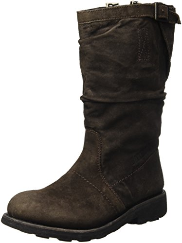 BIKKEMBERGS Damen Vintage 254 Mid Boot W Suede High-Top, Marrone Dark Brown, 41 EU