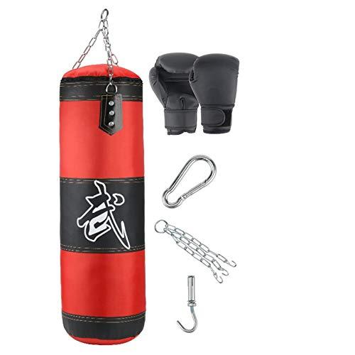 AYGANG Boxeo Bolsa de perforación Entrenamiento Fitness con Patada Colgante Sandbag Adultos Gimnasio Ejercicio Ejercicio de Boxeo vacío Saco de Boxeo 773 (Color : 100cm Get 5)