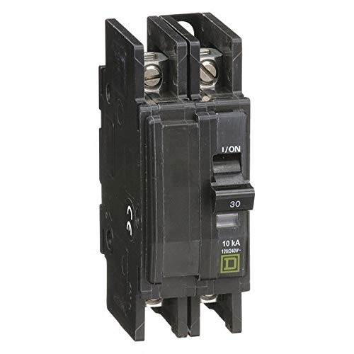 Thermal Magnetic Circuit Breaker, Miniature, QO Series, 240 VAC, 48 VDC, 30 A, 2 Pole, DIN Rail
