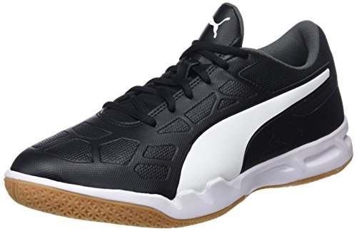 PUMA Unisex Adult Tenaz Multisport Indoor Schuhe, Black-White-Iron Gate-Gum, 42.5 EU