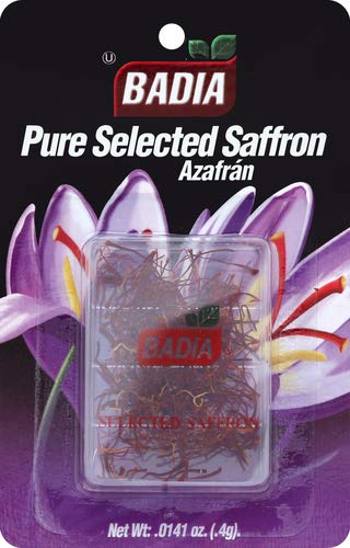 Badia Spanish Saffron 0.0141-Ounce Virginia Beach Mall Blister trust of Pack 25
