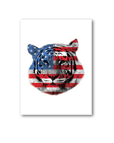 Pekatees Tiger Canvas Wall Art Cute Tiger Canvas Tiger Lovers Gifts for Decoration USA Flag Wall...
