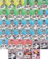 Alle 34 REWE DFB Sammelkarten 2014 WM Sticker Komplett-Set Deutsche Fußball N...