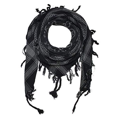 Superfreak Palituch - Pentagramm schwarz - grau - 100x100 cm - Pali Palästinenser Arafat Tuch - 100% Baumwolle