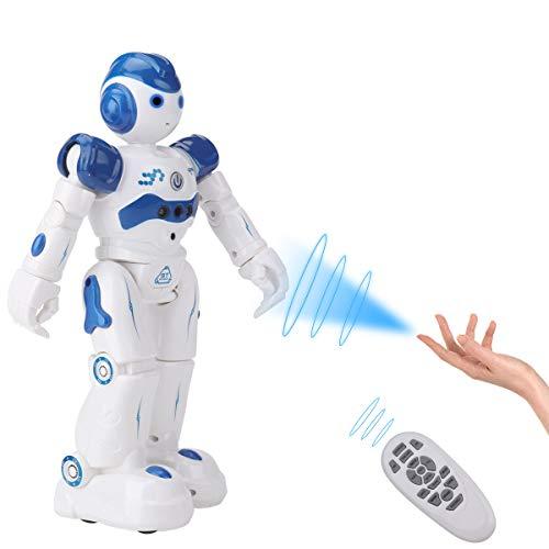 SUNCLAY Robot Juguete, Programable Juguete Educativos, Radiocontrol y Gesto Control Robot, Múltiples Funciones para Cantar Bailar y Aprender, Imita la Voz, Juguete Ideal para Niños