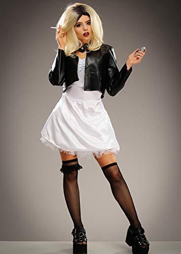 Die Braut der Frauen des Chucky Art-Mörder-Puppen-Kostüms Medium (UK 10-12)