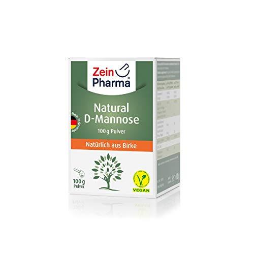 ZeinPharma D-Mannose Pulver (2 Monate Vorrat) dietätische Behandlung gegen Blasenentzündung Hergestellt in Deutschland, 100 g, mehrfarbig