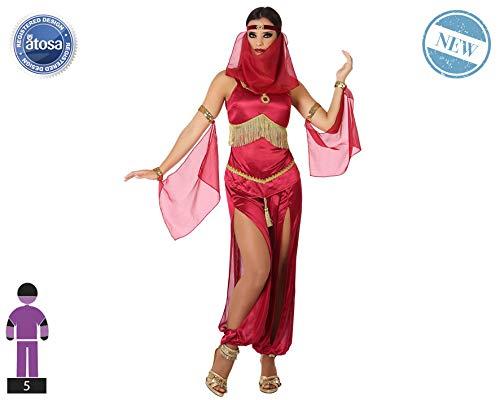 Atosa-61147 Atosa-61147-Disfraz Arabe-Adulto Mujer, Color rojo, XS a S (61147 , color/modelo surtido