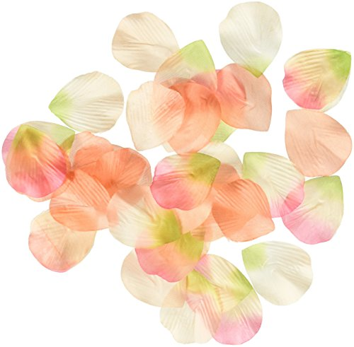 Lillian Rose Silk Flower Rose Petals Orange and Pink, Orange & Pink Silk Flower Arrangements