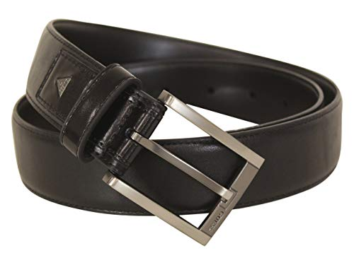 Guess Men's Square End Black Fashion Belt Sz: S (30-32)