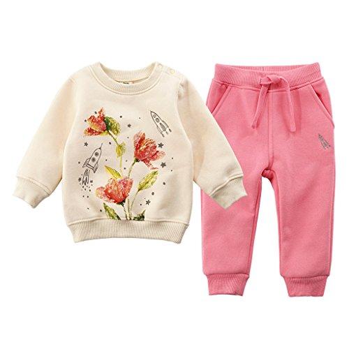 JiAym JiAym Baby Kinder Sweatshirt + Hose Set - 2pcs Bekleidungssets Dick Sport Anzüge Unisex Trainingsanzüge 90