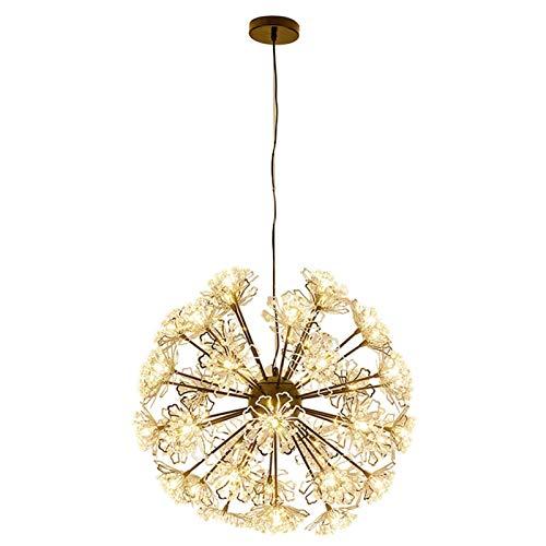 WLABCD Lámpara Candelabro Industrial Moderno Sputnik Starburst Iluminación Colgante Rama de Mediados de Siglo Diente de León Lámpara de Techo para Sala de Estar Cocina Restaurante Pasillo,Dora