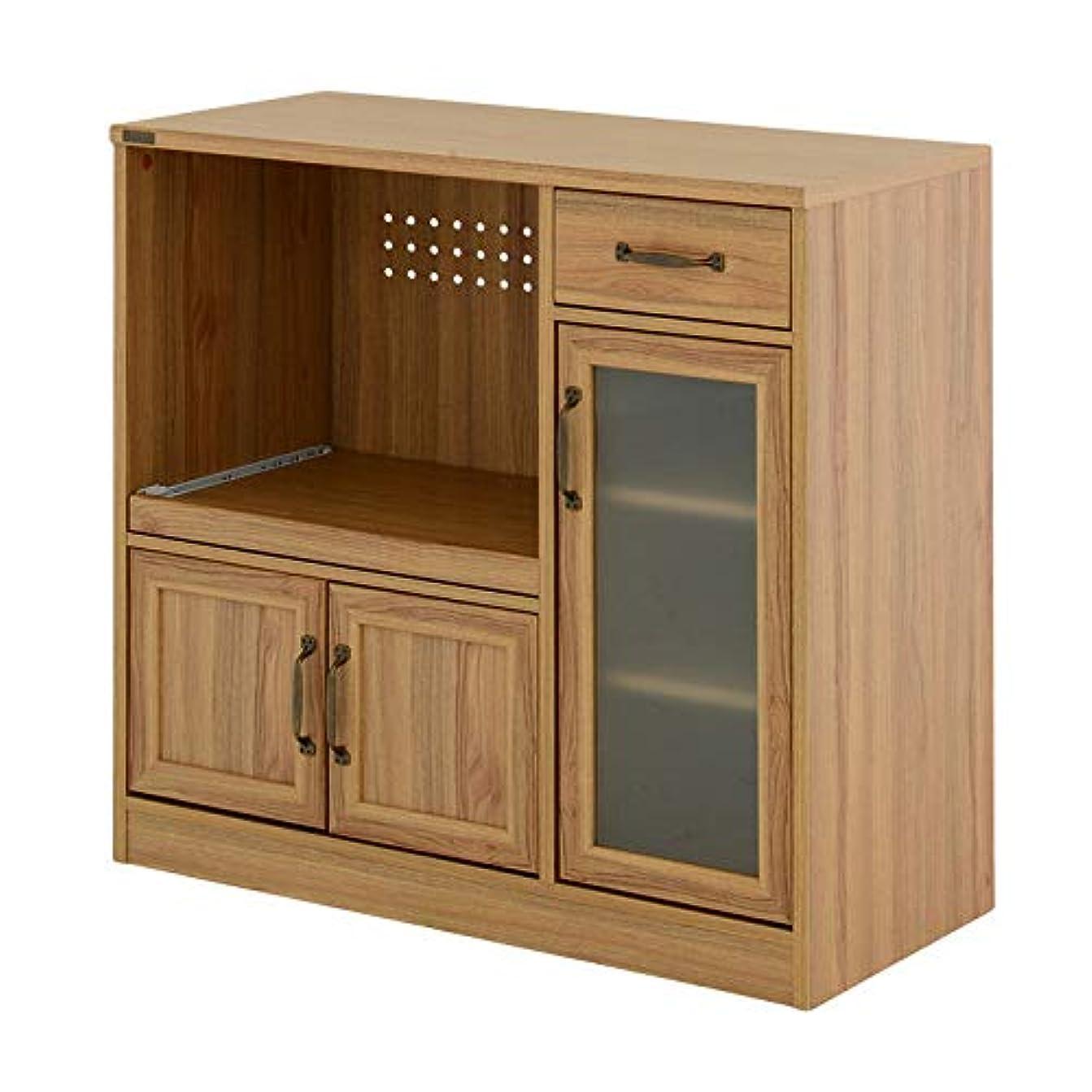 責める失態中間完成品 コンパクト カウンタータイプ レンジ台 レンジボード キッチンカウンター 幅88cm シンプル かわいい おしゃれ<LUFFY/LUK80-90L>