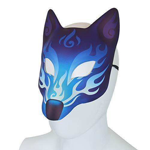 Ymlove Kreative Halloween Fox Maske Festival Rollenspiel Requisiten Furry Animal Adult Kostüm Phoenix Maske - Halloween Animal Mask