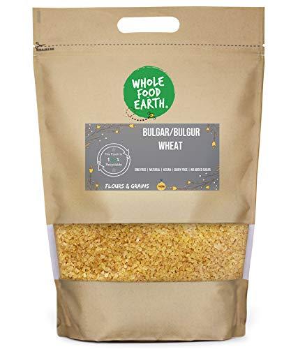 Wholefood Earth Bulgar/Bulgur Wheat - GMO Free - Natural - Vegan - Dairy Free - No Added Sugar, 500 g