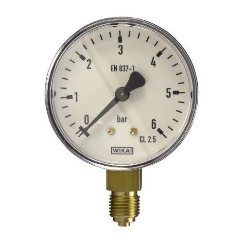 Manometer, NG63, 0-6 bar - WIKA 111.10 - 9052836