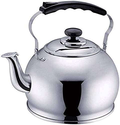 aipipl Base Fina de Acero Inoxidable con Acabado de Espejo, 4 litros, 5 litros, artículos para el hogar, Tetera, Taza de té, a