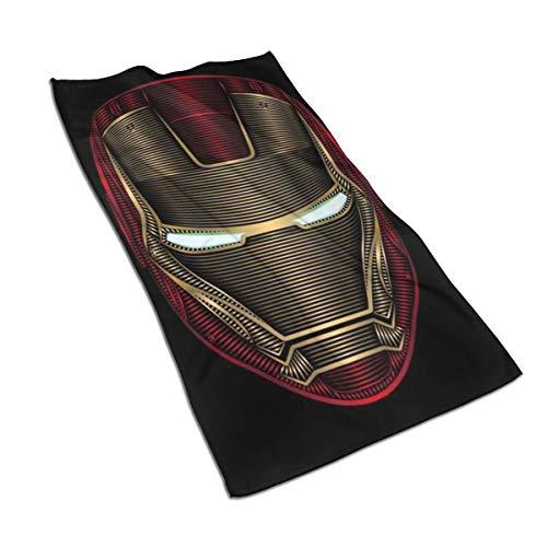 DNBCJJ Toalla de secado rápido de Iron Man, suave, súper absorbente, para el cuidado del cabello, para el gimnasio, spa y el hogar, 27.5 x 17.5 pulgadas
