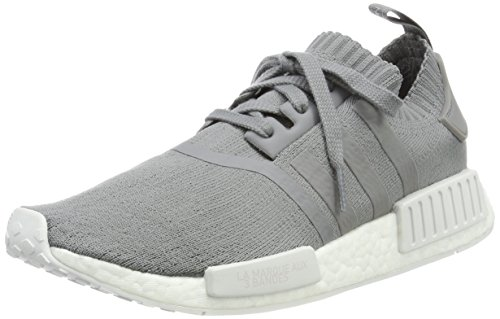 adidas Damen NMD_R1 Primeknit Sneaker, Grau Grey Three F17 Grey Three F17 FTWR White, 42 EU