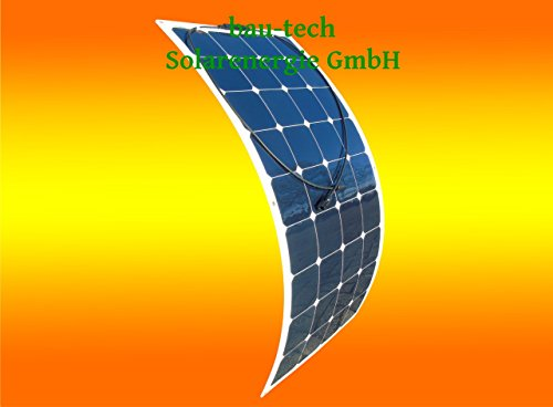 bester Test von flexible solarmodule wohnmobil bau-tech Solarenergie 100W 12V Mono Semi-Flexibles Solarmodul, Solarpanel für Bootslager…
