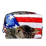 Neceser de Maquillaje Bolso Cosmético Monedero, Gato Americano de Pelo Corto