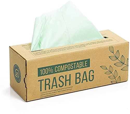 150 Beutel für Kompostbehälter 6L 8L 10L Küchen Lebensmittel Abfallbeutel 100% biologischer und abbaubarer Beutel aus Maisstärke mit EN13432 Zertifizierung (6L)