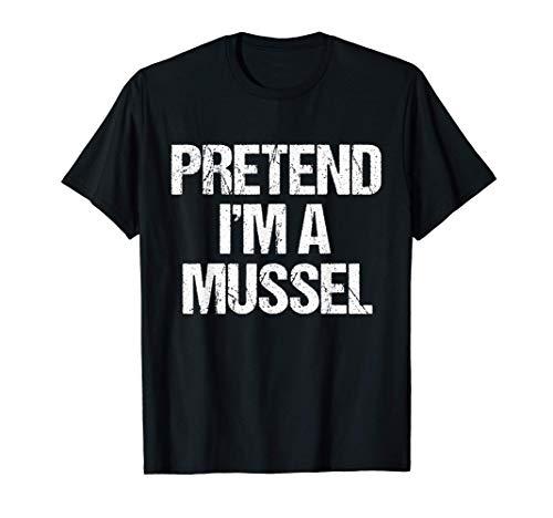 Finge que soy un divertido disfraz de mejillón en Halloween Camiseta