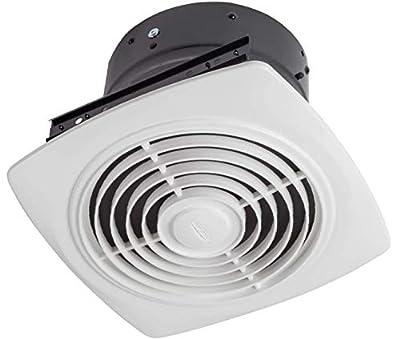 "Broan-NuTone 505 Exhaust Fan, White Vertical Discharge Ceiling Ventilation Fan, 8.5 Sones, 200 CFM, 8"""