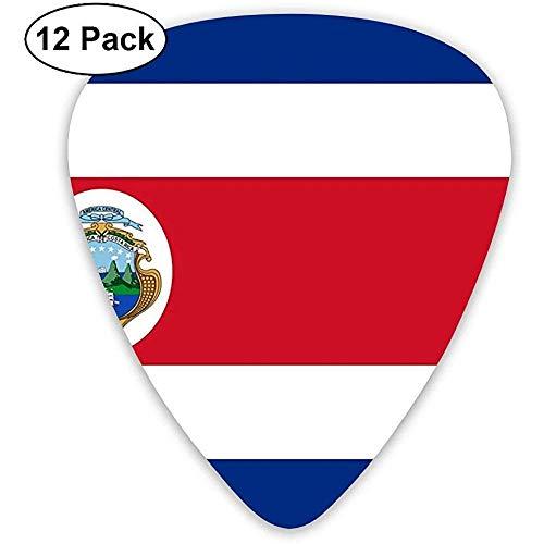 Costa Rica Vlag Polyester Vlag Gitaar Picks Elektrische Gitaar 12 Pack