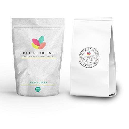 Sleep Duo- Insomnia Relief- Sage 800mg Natural 120 Pack Tablets & Sleep Tea 14 Nights Duo