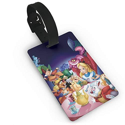 DNBCJJ Etiquetas de equipaje para maletas Cute Alice in Wonderland etiqueta de equipaje, con nombre ID maleta para mujeres, hombres, niños y accesorios de viaje