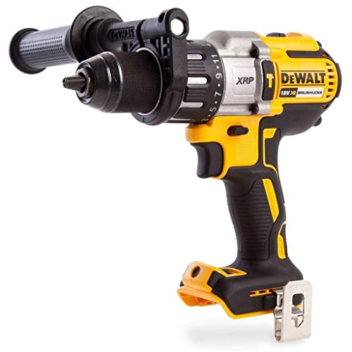 Dewalt DCD996N 18V XR 3-Speed Brushless Hammer Combi Drill (Body Only), 820 W, 18 V, Yellow/Black