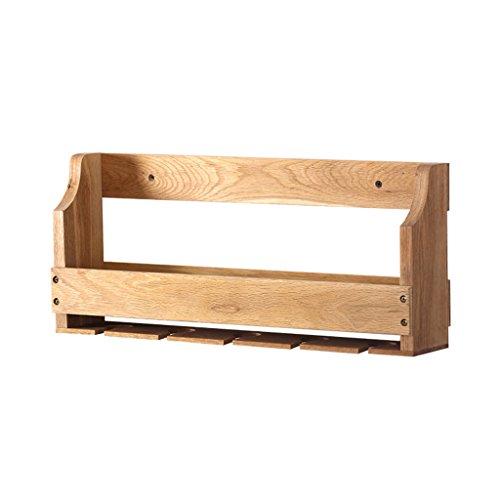 Büroschränke & -ablagen Massivholz Rotwein Regal Wandbehang einfache Weinregal Durable Umwelt ungiftig Rollcontainer (Size : 55 * 9 * 23.6 cm)