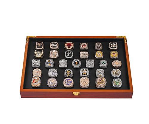 Anillo de campeonato 1991-2021 Lakers todos los 31 juegos con caja de madera anillo para hombre el mejor regalo para los fanáticos 11 anillos # 31 + caja de madera
