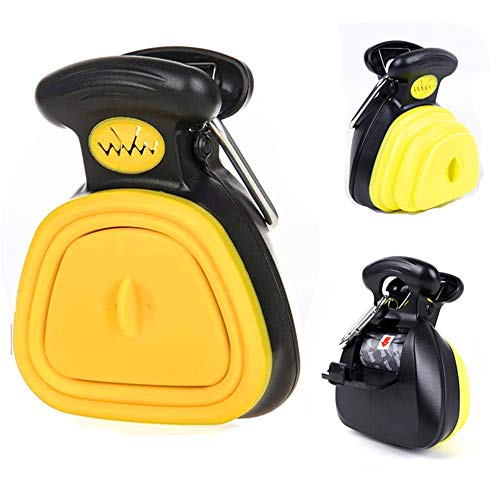 Dog Pooper Scooper,Pet Sanitary Toilet,Portable Poop Scooper with Bag for All dogs, Garbage Cleaner-with Bag Dispenser-with 1 Bag Of Garbage,Easy Grass and Gravel Pick Up
