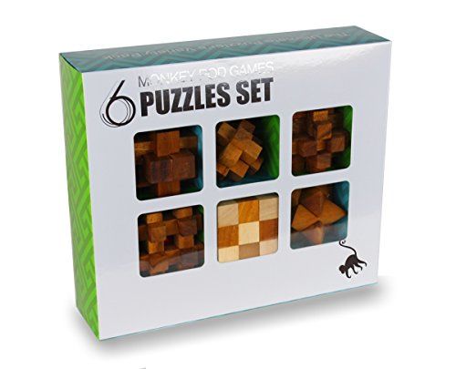 Monkey Pod Games Six-Pack Gift Set - Full Size Puzzle Set with Larger Puzzles
