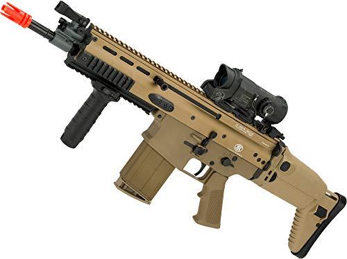 Evike FN Herstal Scar-H CQB Licensed MK17 Gas Blowback Airsoft Rifle by VFC (Color: Flat Dark Earth)